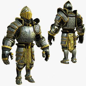 3d model knight series