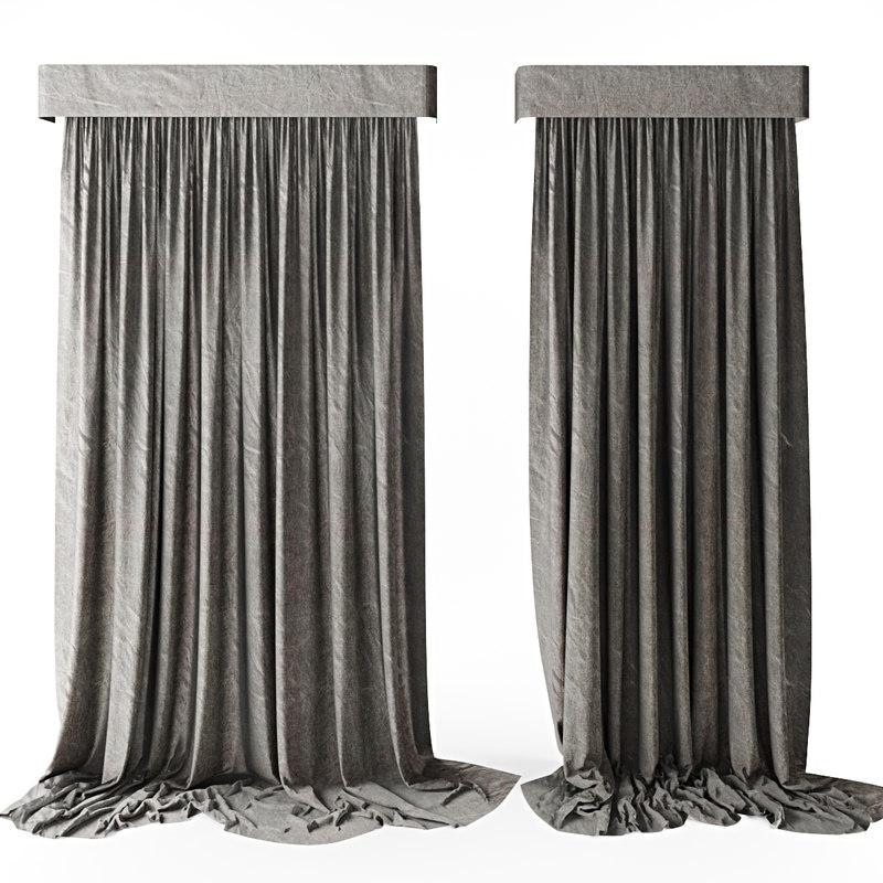 3d curtains loft model