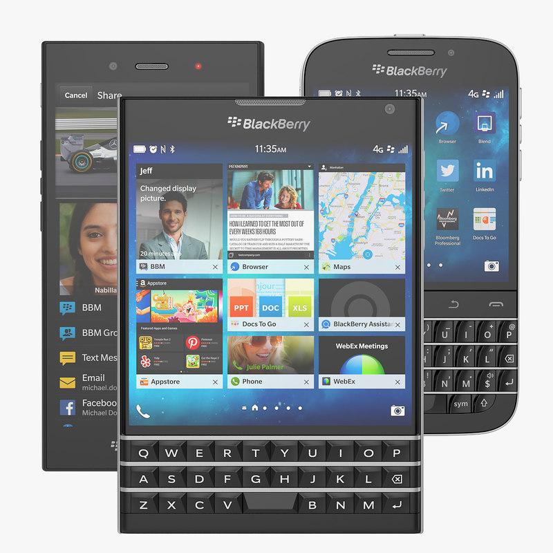 blackberry classic passport z3 3d model