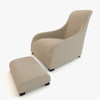 modern chair maxalto armchair max
