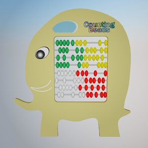 3d counting beads 1 model