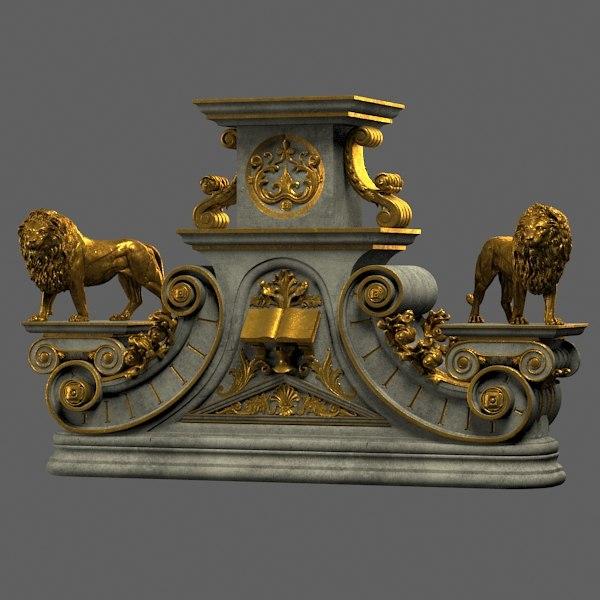 statue base 3d model