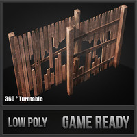3d model wood fence kit