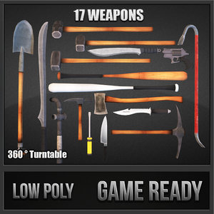 3d model survival weapons hd vol 1