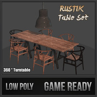 rustik table set 3d max