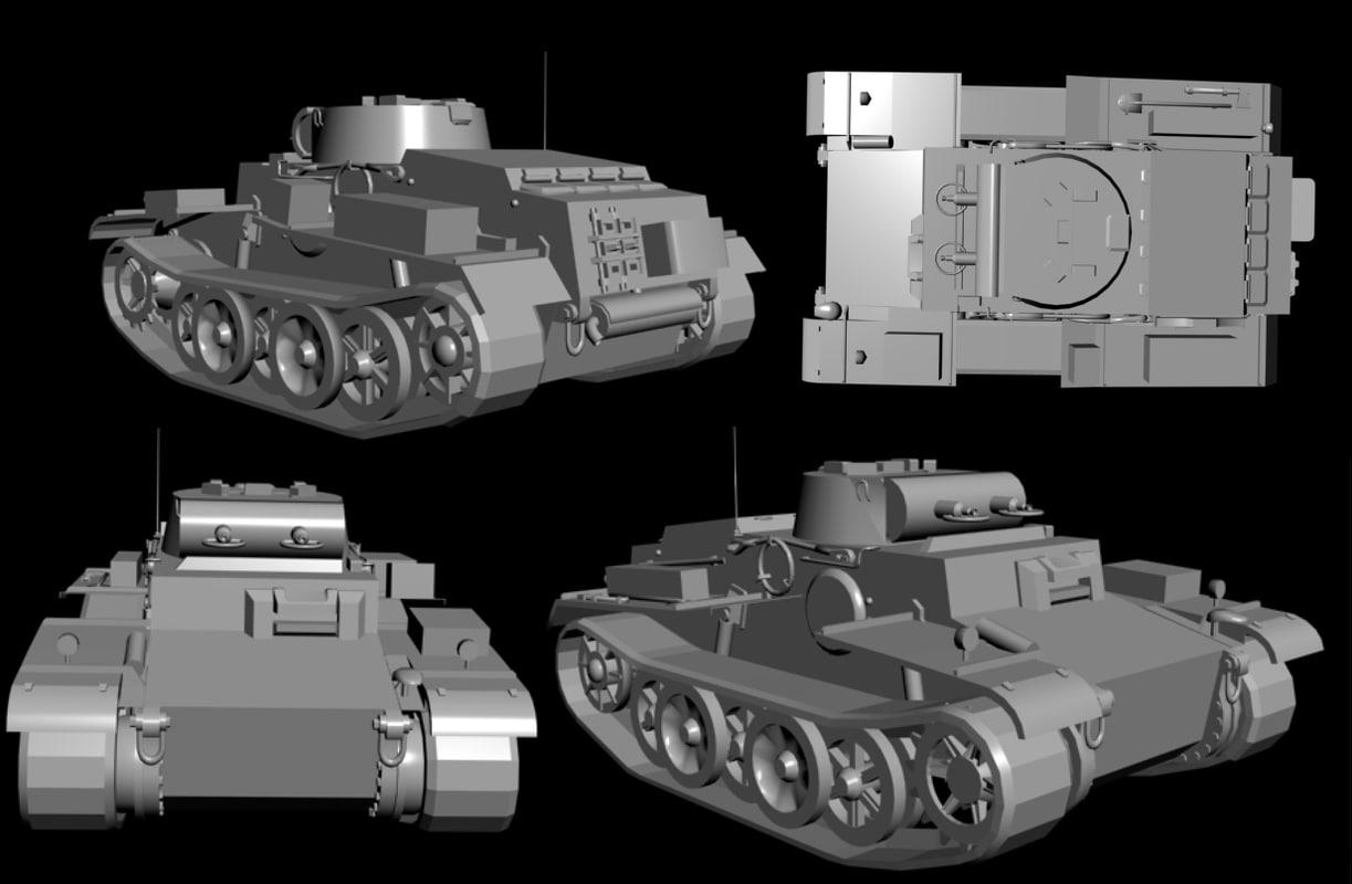 3d model germany pz kpfw ausf