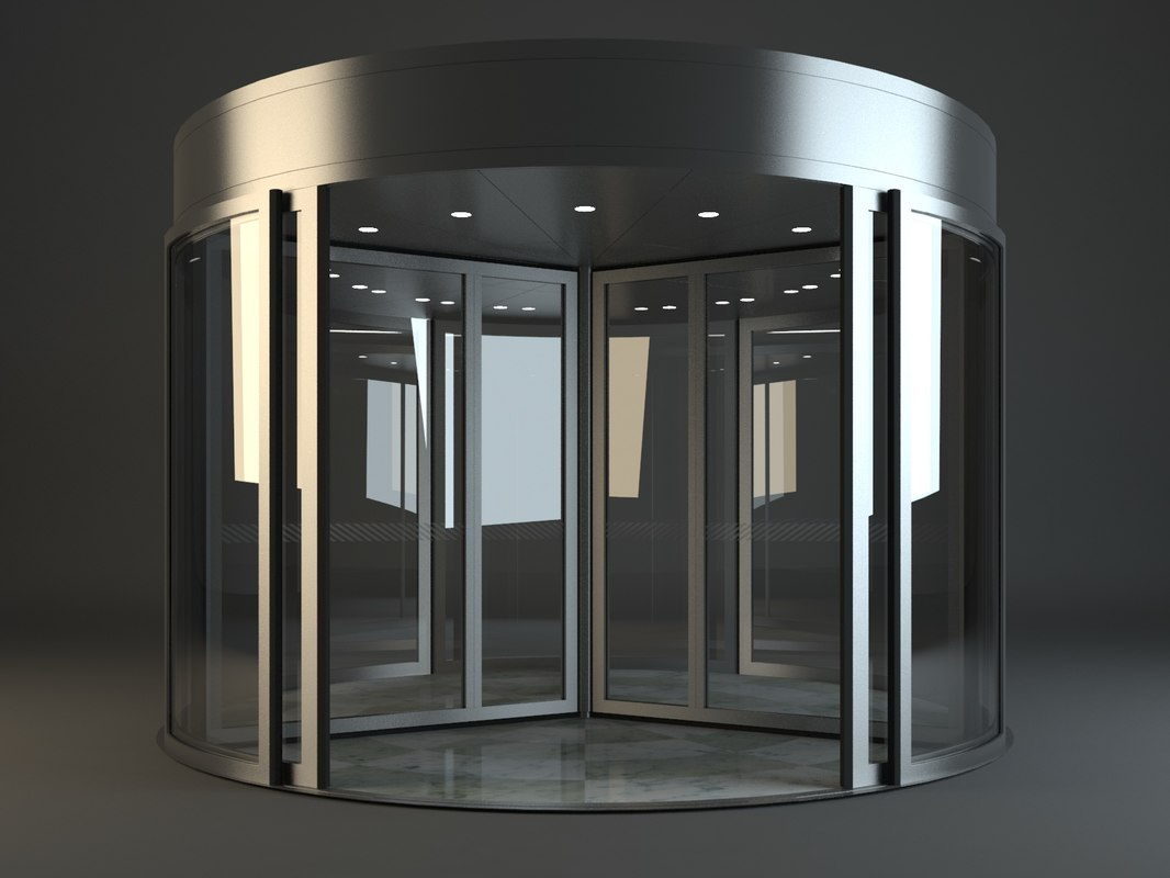 3d revolving door model for Mobel 3d download