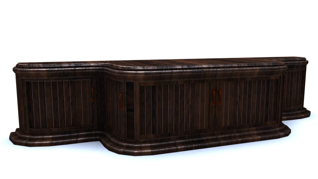 console cabinet 3d model