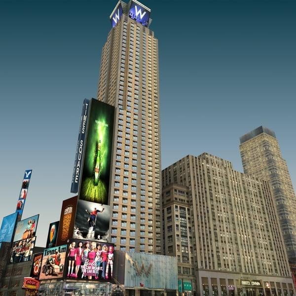 new york 8th avenue 3d model