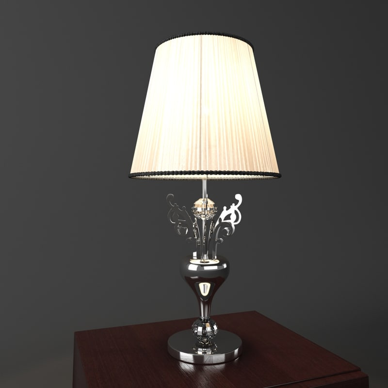 3d model desk lamp illuminati lighting