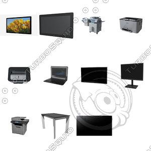 office electronics laptop 3d obj