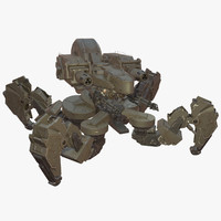 Spider Tank Mech-Rigged and animated