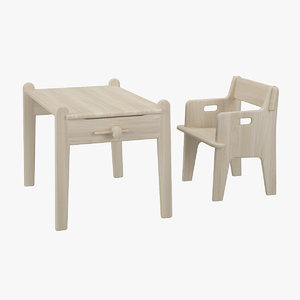 3ds table chair hans j