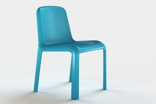 snow junior chair pedrali 3d fbx