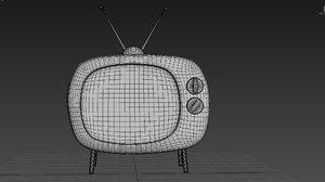 tv television 3d max
