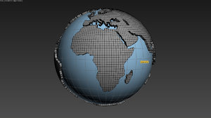 world globe 3d model