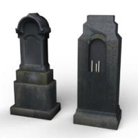 black tombstones 3d 3ds