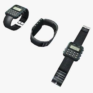 3d model casio wristwatch watch