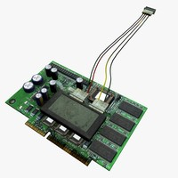 3d model of pcb circuit board
