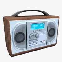 dab digital radio 3d max