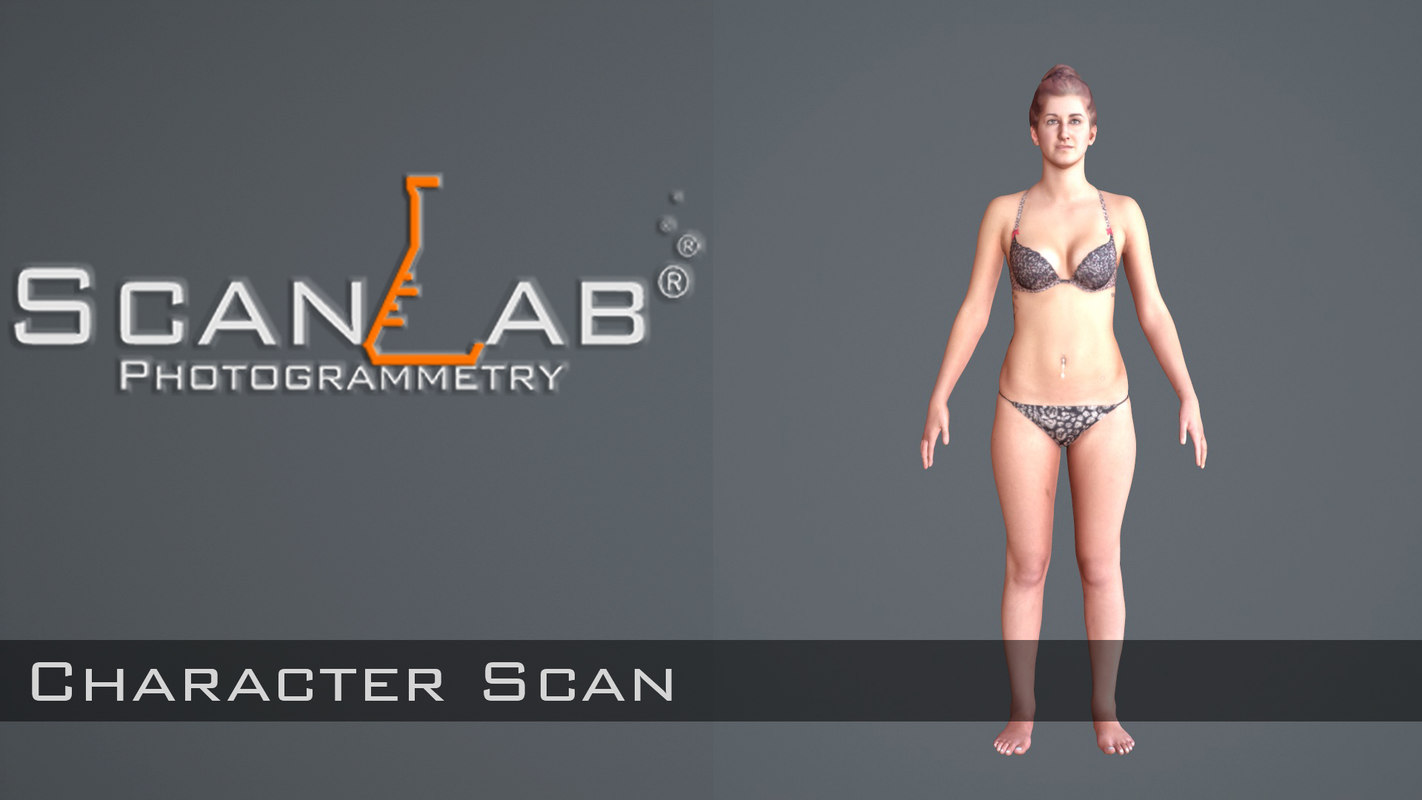 3d model female body scan -