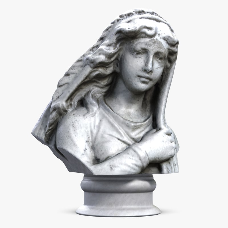 3ds max woman bust 5