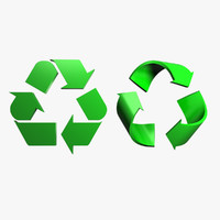 3ds max recycle logo