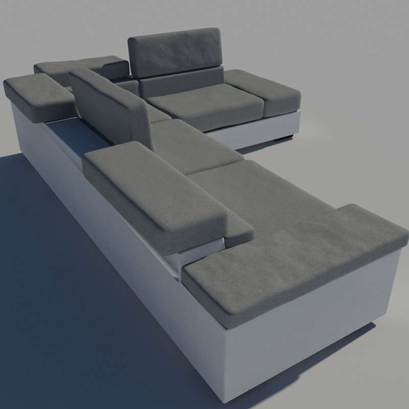 3ds max sofa leather fabric