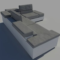 white-grey sofa
