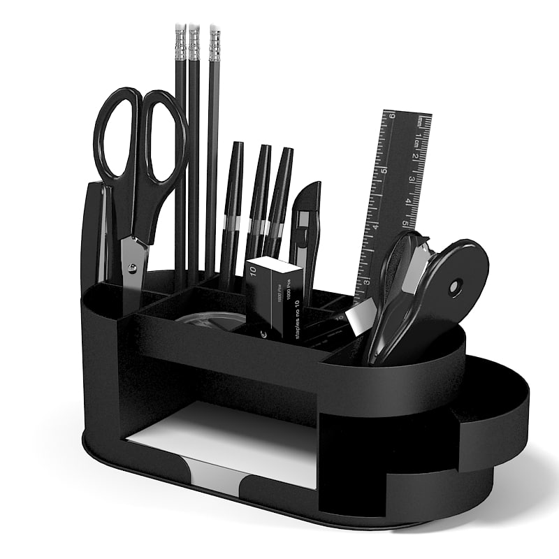 3d model stationery set
