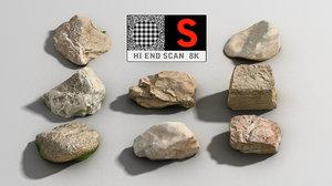 3d rock scan 8k model