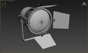 3ds max stage lighting spot