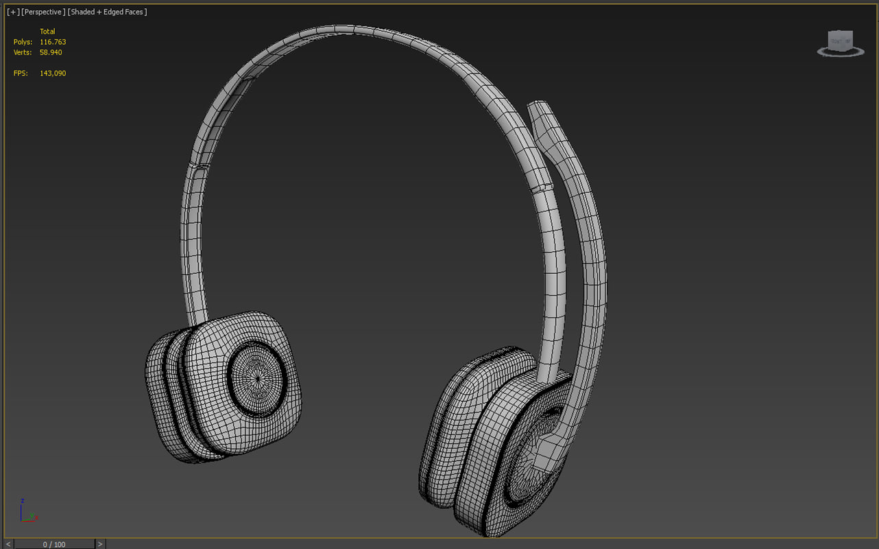 headphone 3d max