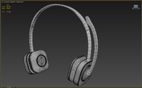 headphone 3d max