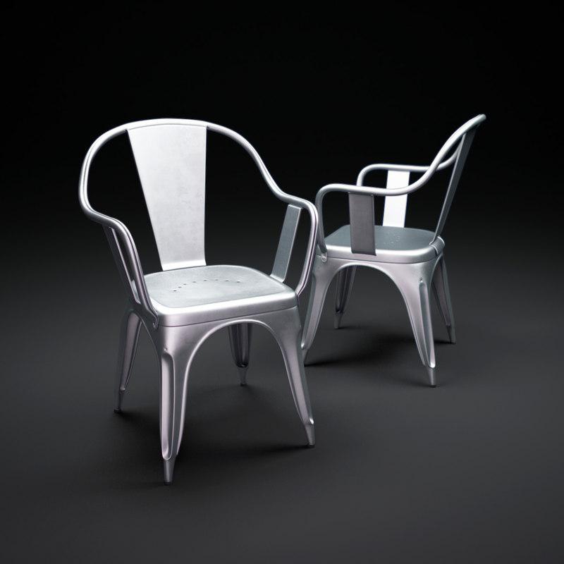 3d model tolix-c-armchair