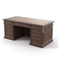 writing table luxury 3d model