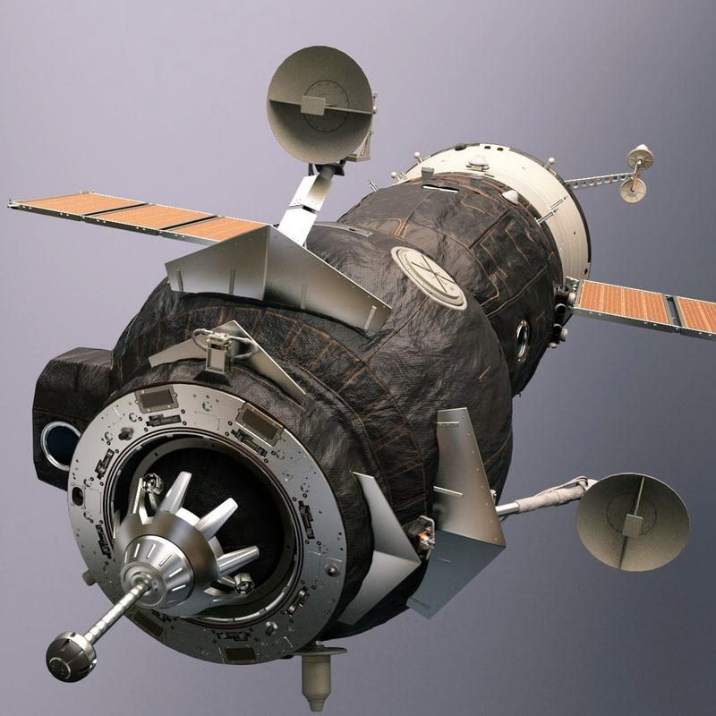 3d obj soyuz orbiter