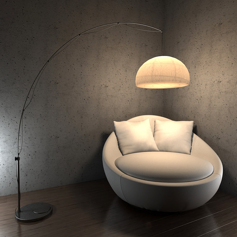 floor lamp regolit 3d model