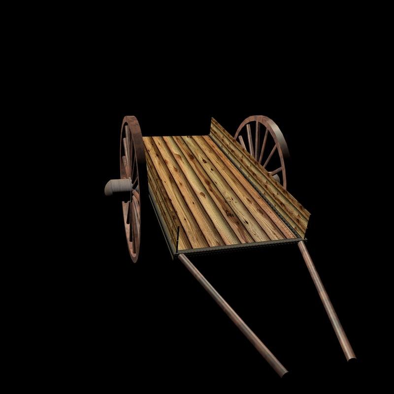 bullock-cart car 3d c4d