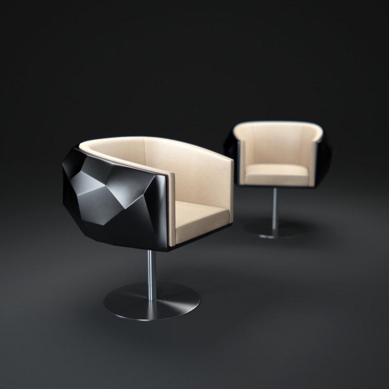 fendi-casa-crystal-chair 3d max