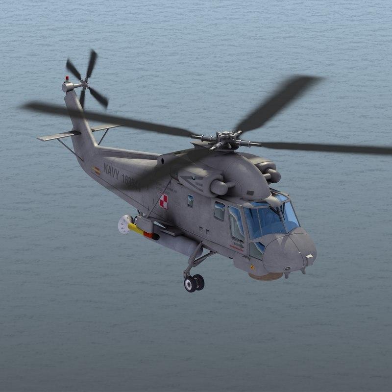 sh-2g seasprite helicopter polish 3d model