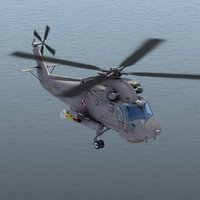 sh-2g seasprite helicopter polish 3d model