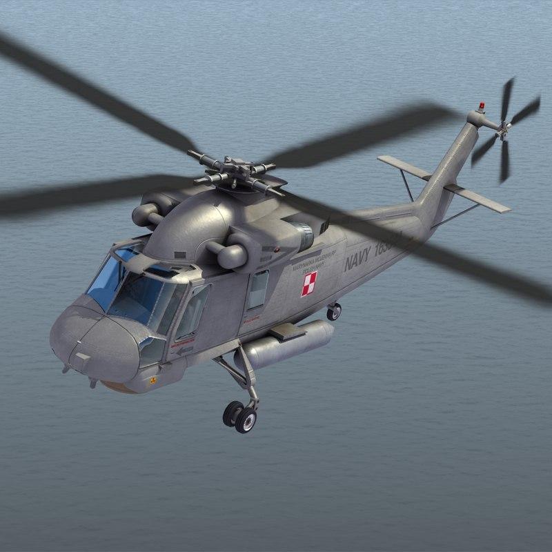 sh-2g seasprite helicopter obj