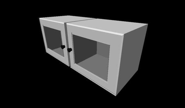 3d door draw drawer model