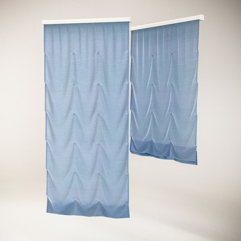 3ds max roman blinds