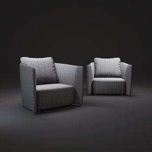 3d bentley-armchair