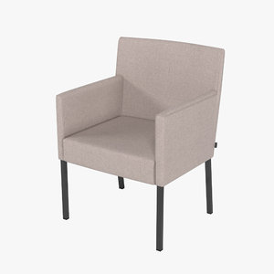 3d model of rolf benz chair stu-at