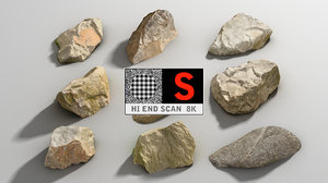 3d rock scan 8k pack