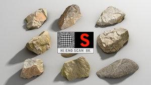 3d rock scan 8k pack