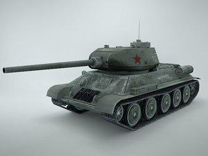 3d model t-34 tank
